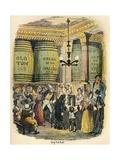 The Gin Palace, C1900 Reproduction procédé giclée par George Cruikshank