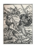 The Knight and Death, 1538 Reproduction procédé giclée par Hans Holbein the Younger