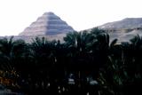 Step Pyramid of King Djoser Behind the Niles Flood Plain, Saqqara, Egypt, 3rd Dynasty, C2600 Bc Reproduction photographique par  Imhotep