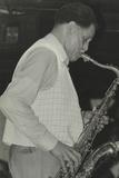 Saxophonist Dexter Gordon Playing at Ronnie Scotts Jazz Club, London, 1980 Reproduction photographique par Denis Williams