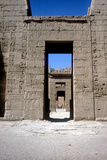 View Through the Pylons, Mortuary Temple of Rameses Iii, Medinat Habu, Luxor, C12th Century Bc Reproduction photographique par CM Dixon