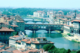 River Arno and Ponte Vecchio from Piazzale Michelangelo, Florence, Italy Photographic Print by Peter Thompson