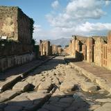 A Street in the Roman Town of Pompeii, 1st Century Reproduction photographique par CM Dixon