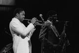 Wynton Marsalis (T Williams), Capital Jazz Festival, Rfh, London, 1988 Fotoprint van Brian O'Connor