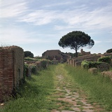 Street and Buildings in the Roman Town of Ostia, 2nd Century Reproduction photographique par CM Dixon