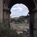The Roman Forum and Arch of Septimus Severus, 3rd Century Reproduction photographique par CM Dixon