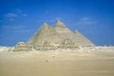 Pyramids of Khufu, Khafre and Mycerinus, Giza, Egypt, C26th Century Bc Reproduction photographique par CM Dixon