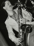 Tenor Saxophonist Scott Hamilton Playing at Pizza Express, London, 16 February 1979 Reproduction photographique par Denis Williams