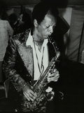 American Saxophonist Ornette Coleman Playing at the Bracknell Jazz Festival, Berkshire, 1978 Fotoprint van Denis Williams