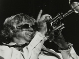 Maynard Ferguson Playing the Trumpet Stampa fotografica di Denis Williams
