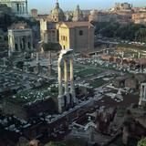 Roman Forum Seen from the Palatine Hill, 5th Century Bc Reproduction photographique par CM Dixon