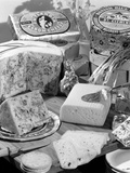 A Selection of Danish Cheeses, 1963 Fotografie-Druck von Michael Walters