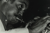 American Trumpet and Flugelhorn Player Art Farmer at the Bell, Codicote, Hertfordshire, 1983 Reproduction photographique par Denis Williams