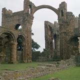 View of Lindisfarne Priory, 7th Century Reproduction photographique par CM Dixon