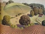 Young Corn, 1931, (1938) Giclée-tryk af Grant DeVolson Wood