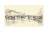 The Pont Neuf Seen from the Locks, 1915 Giclee Print by Herman Armour Webster