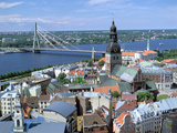 The View from St Peters Spire, Riga, Latvia Photographic Print by Peter Thompson