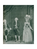 Hon Rd Edgcumbe, Lord William Russell, Lady Caroline Spencer, 1788 Giclee Print by James Roberts