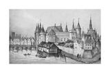 The Pont Aux Meuniers and Part of the Palais Du Roi De La Cite in 1556, 1915 Reproduction procédé giclée