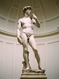Statue of David, Accademia Gallery, Florence, Italy Reproduction photographique par Peter Thompson
