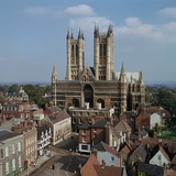 Lincoln Cathedral from the West Reproduction photographique par CM Dixon