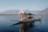 Shikara (Traditional Wooden Boat) on Dal Lake, Srinagar, Kashmir, India Photographic Print by Vivienne Sharp