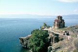 Church of St John the Divine, Kaneo, Lake Ohrid, Macedonia Photographic Print by Vivienne Sharp