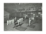 Gymnastics by Male Students, School of Building, Brixton, London, 1914 Photographic Print