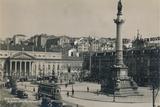 Rossio Square, Lisbon, Portugal, 1936 Photographic Print
