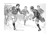 Rugby Football, 1937 Reproduction procédé giclée