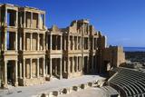 Roman Theatre, Sabratha, Libya, C161-192 Ad Photographic Print by Vivienne Sharp