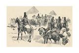 Napoleon Buonaparte at the Battle of the Pyramids, 1798, (1884) Reproduction procédé giclée par Richard Caton II Woodville