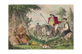 Henry Viii Monk Hunting, 1850 Lámina giclée por John Leech