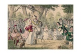 Henry the 8th and His Queen Out a Maying, 1850 Giclee Print by John Leech