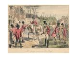 Mr. Sponge Arrives at Sir Arrys, 1865 Giclée-tryk af John Leech
