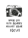 When Life Gets Blurry Art by  Peach & Gold