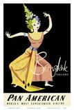 Bangkok, Thailand - Pan American Airlines (PAA) - Thai Woman Classical Dancer Poster von A. Amspoker