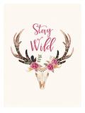 Stay Wild Skull Cream Póster por Amy Brinkman
