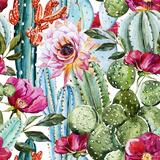 Watercolor Cactus Pattern Posters por  Zenina