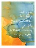 Rumi Watercolor Soul River Posters par Amy Brinkman
