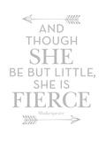 She Is Fierce Gray Posters van Amy Brinkman