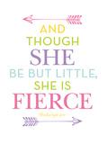 She Is Fierce Multi Kunstdrucke von Amy Brinkman