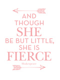 She Is Fierce Pink Affiches par Amy Brinkman