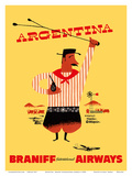 Argentina - Argentinian Gaucho Print by  Pacifica Island Art