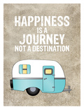 Camper Happiness Is Journey Affiches par Amy Brinkman