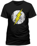 The Flash- Distressed Logo T-paidat