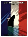 Atlantic-Pacific-Mediterranean Poster von Paul Colin