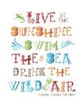 Live In The Sunshine Multi Affiches par Amy Brinkman