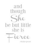 She Is Fierce V2 Gray Affiches par Amy Brinkman