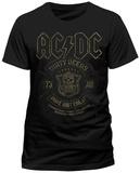 AC/DC- Black Done Cheap T-Shirts
